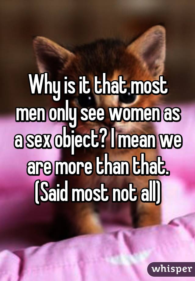 Are women more sex objects