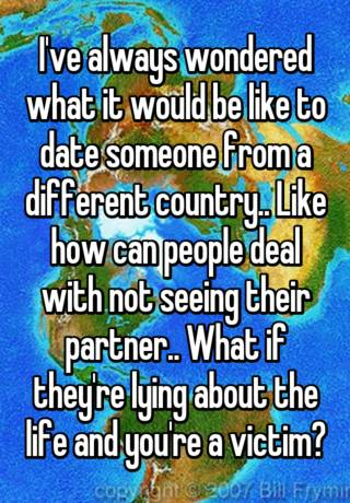 dating someone from different country