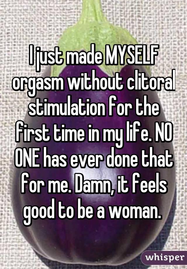 First clitoral orgasm