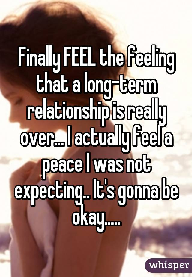 When is the relationship really over