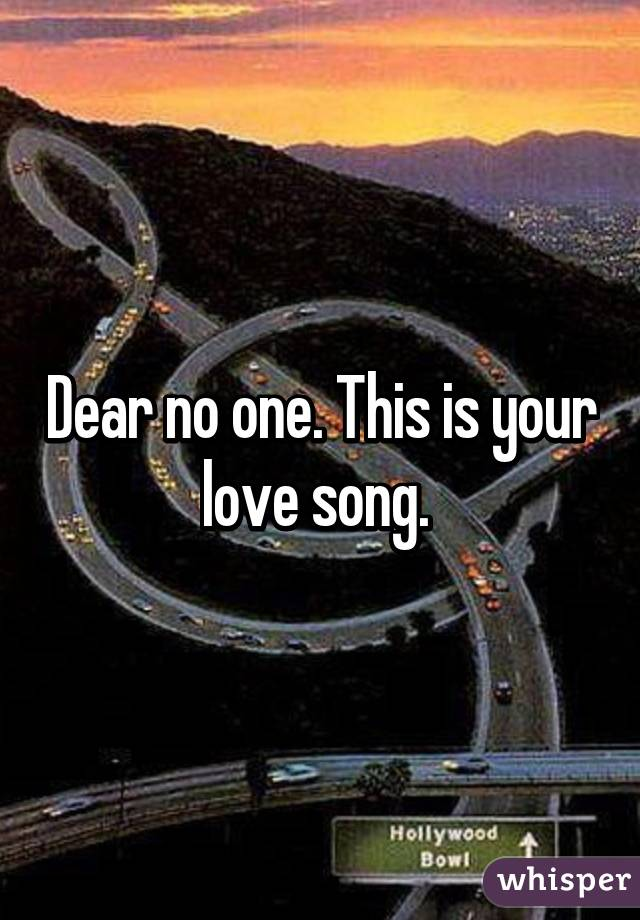 this is your love song