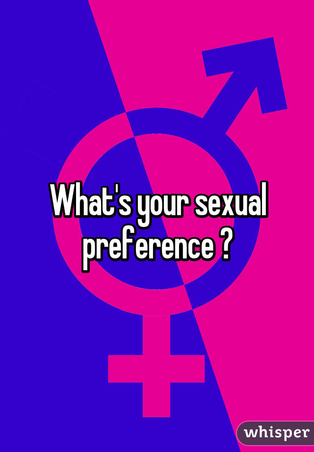 What is a sexual preference