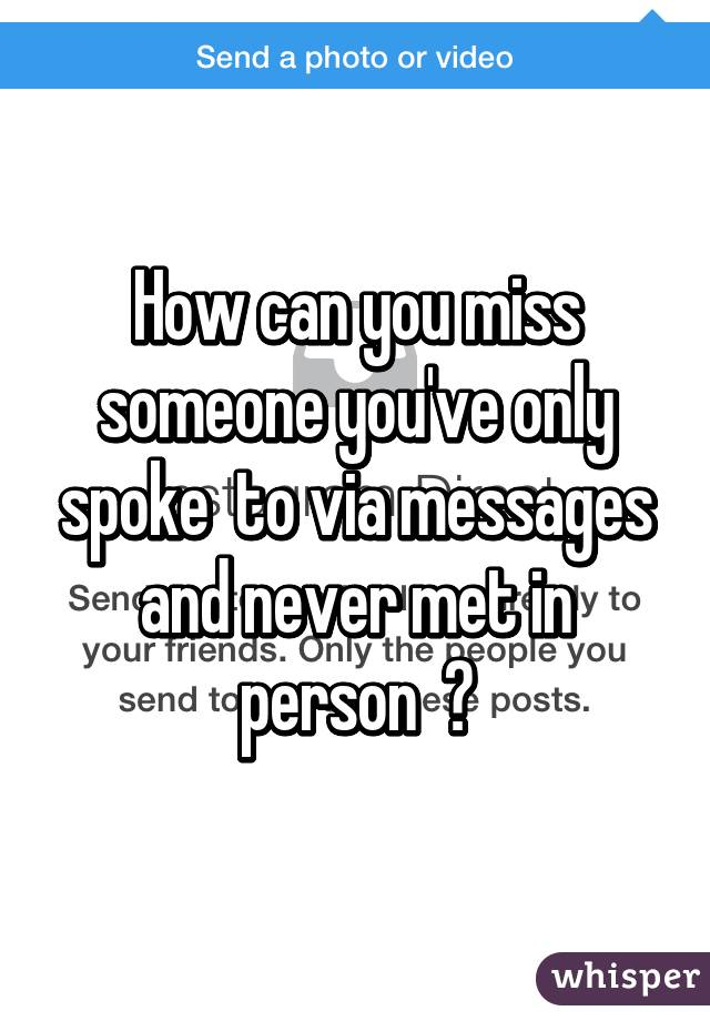 message to a person you miss