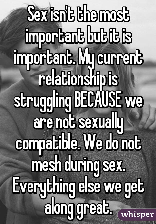 sex not as important as relationships
