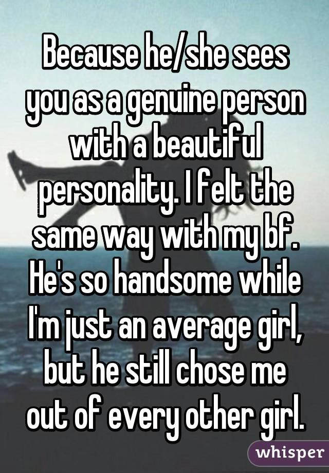 you are a genuine person