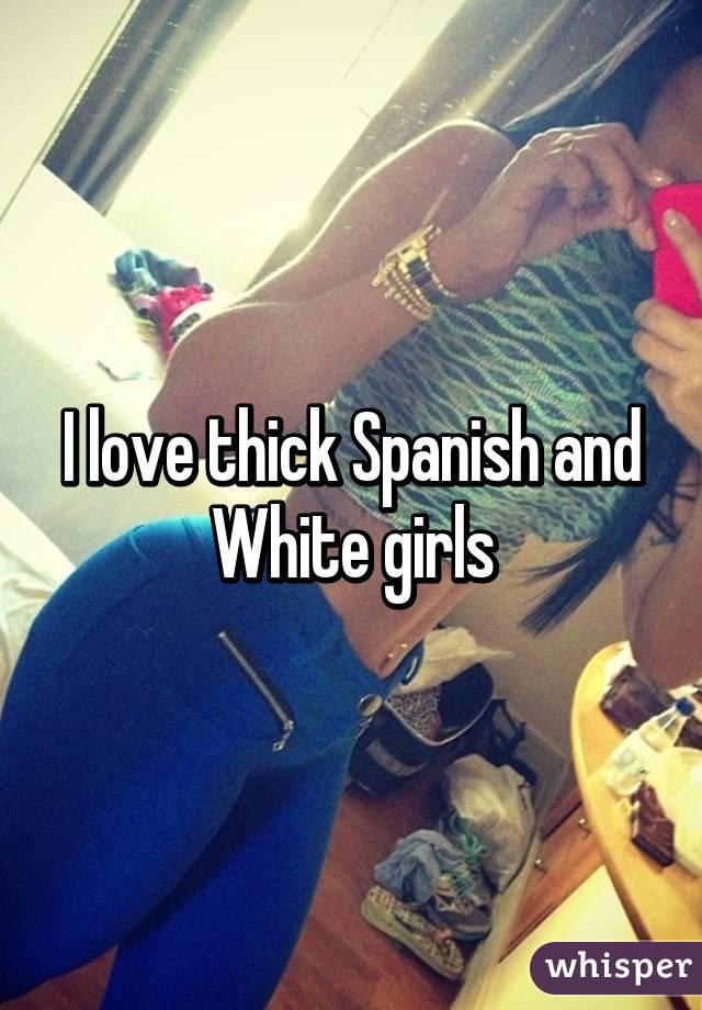 I love thick white girls