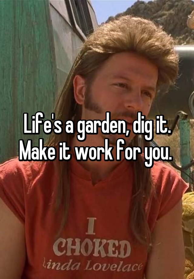 lifes a garden dig it make it work for you - Lifes A Garden Dig It