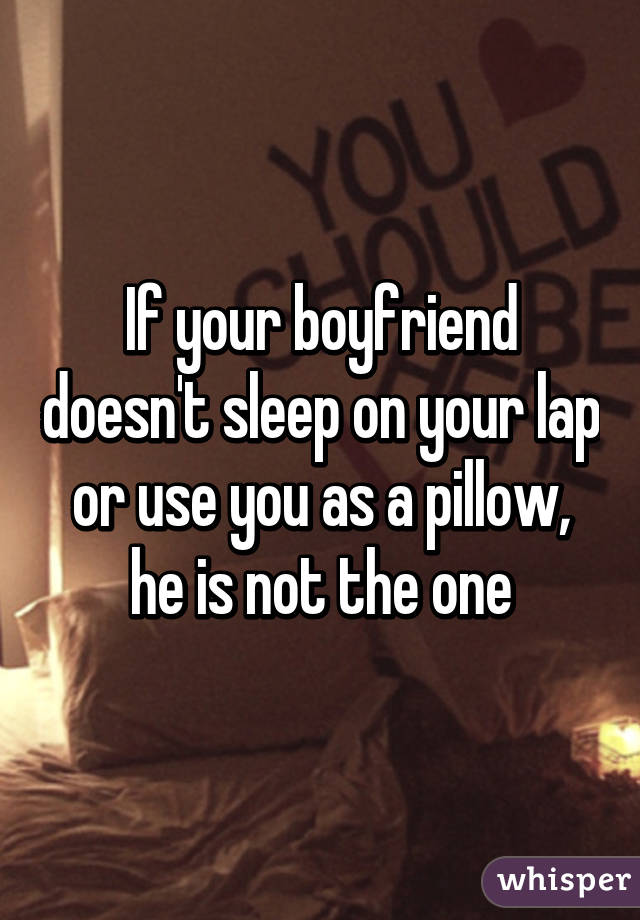 what to do when your boyfriend is sleeping