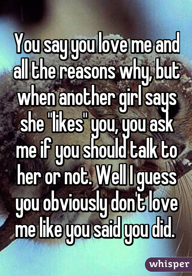 things to say to a girl you love