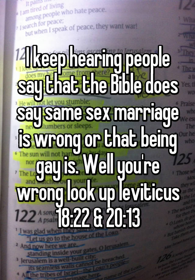 Does bible say sex before marriage wrong