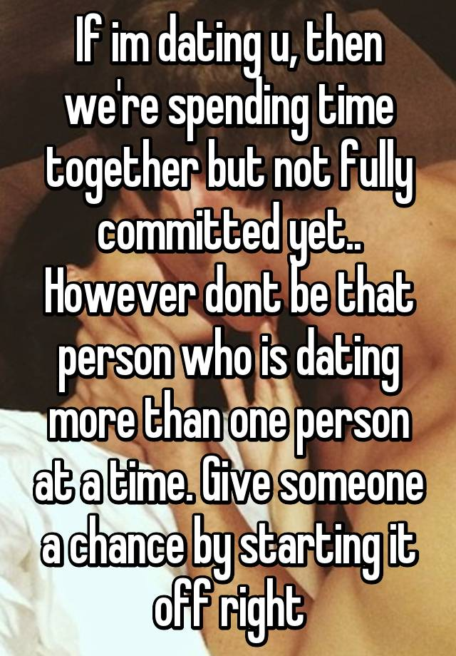 Dating more than one person at once