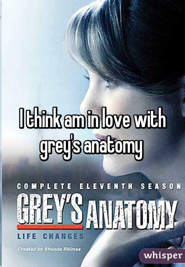 I think am in love with grey's anatomy