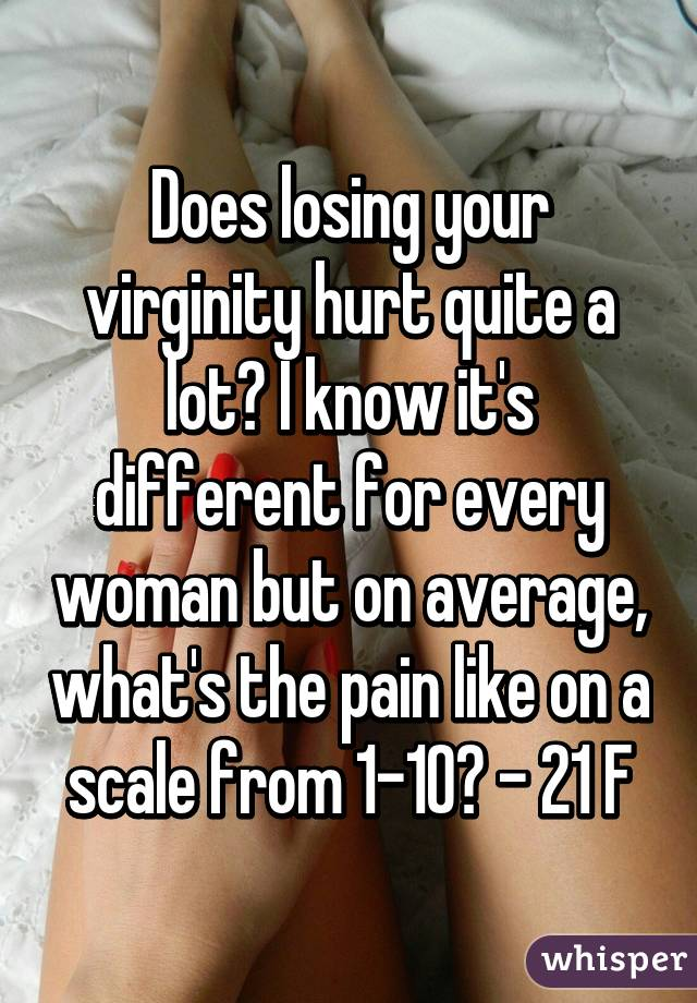 Does loosing your virginity hurt