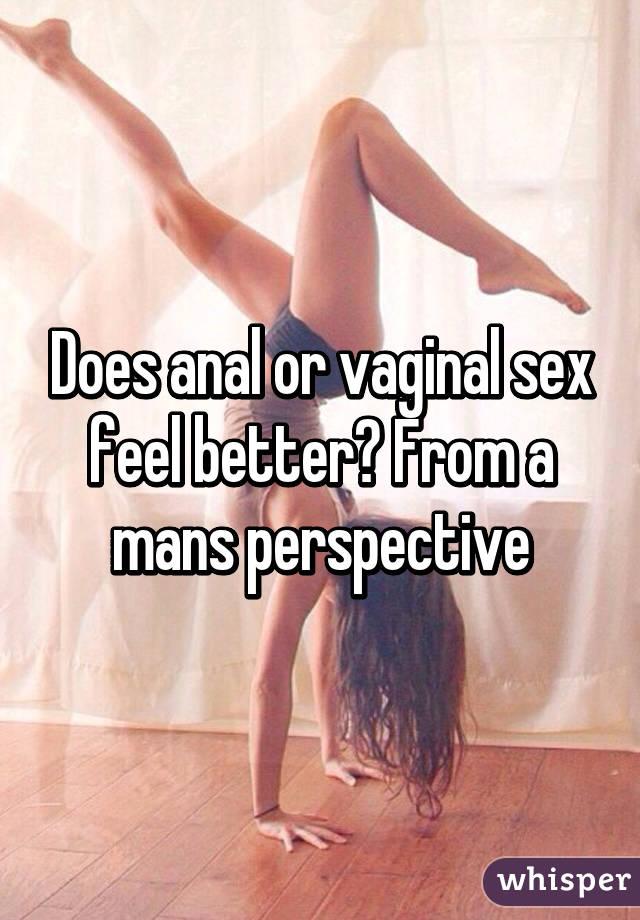 Anal Vs Vaginal Sex