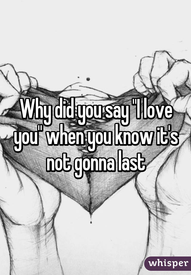 When did you say i love you