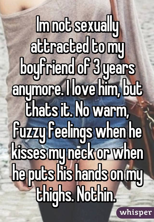 Boyfriend Not Sexually Interested