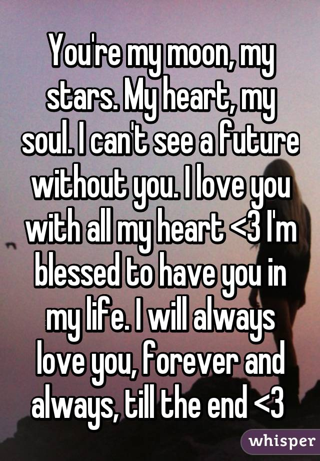 i love you with all my life