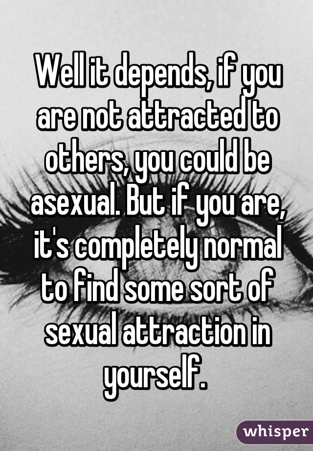 Sexual attraction to yourself