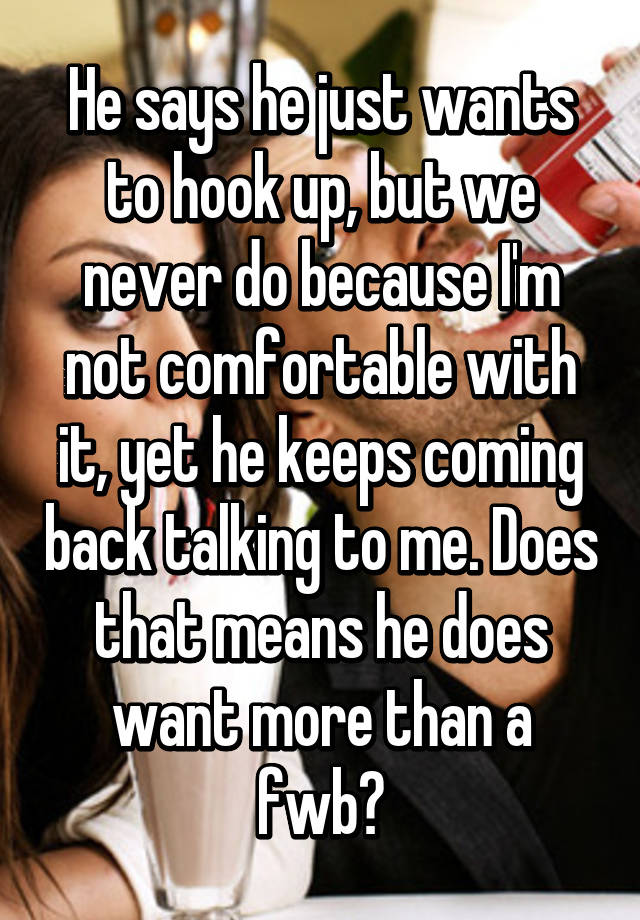 what does want to hook up mean
