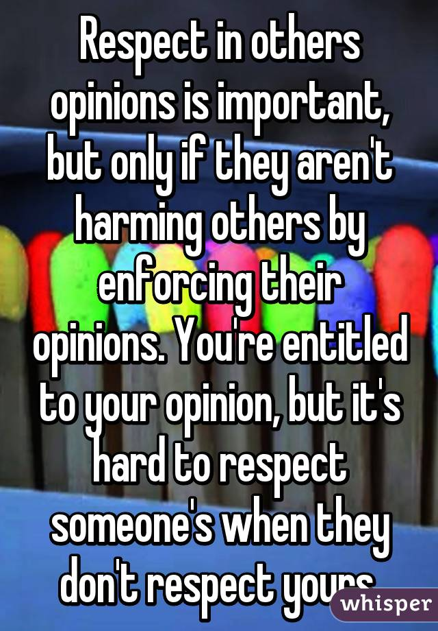 why is important to respect others