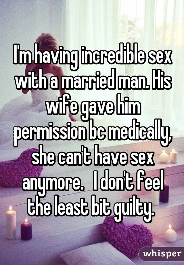 Why cant i have sex anymore