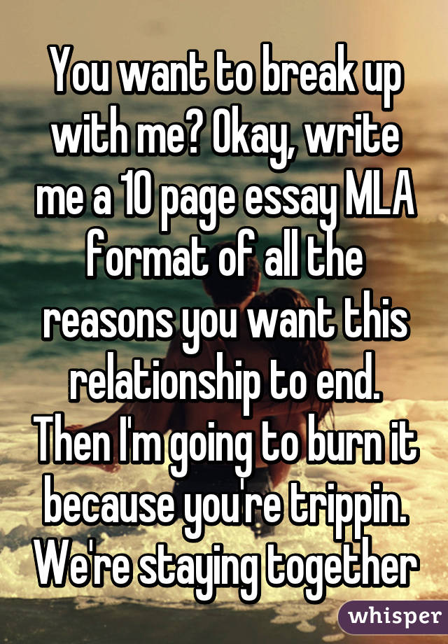 I'm going to write an essay