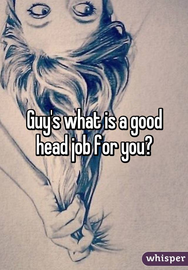 Perfect head job