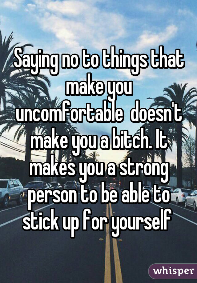 how to stick up for yourself