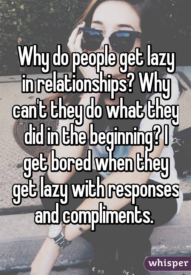 why do i get bored in relationships