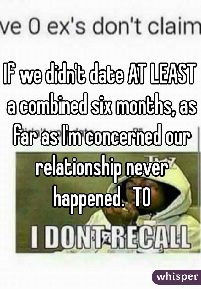 Dating six months relationship