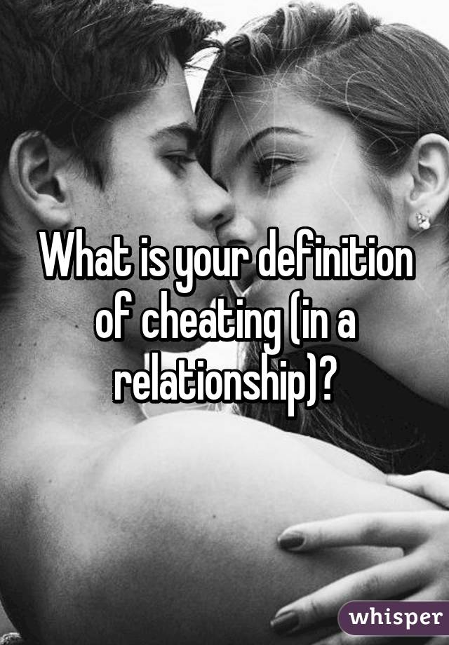 what is the definition of cheating