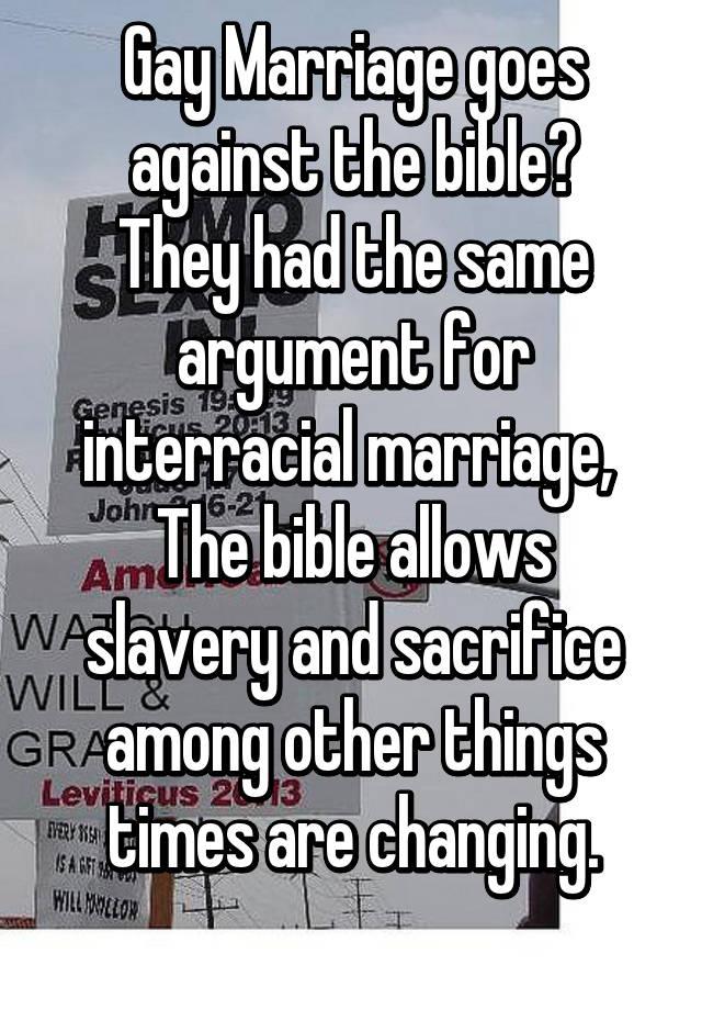 Arguments against interracial marriage