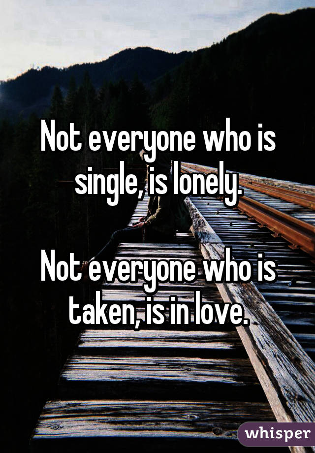 How not to be lonely and single