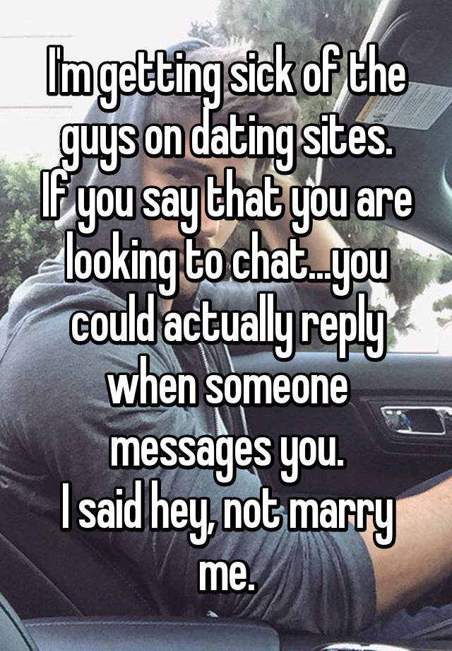 Sick of dating sites
