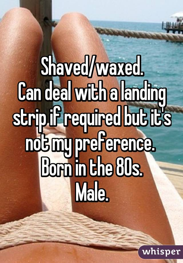 With you horny landing strip think, that