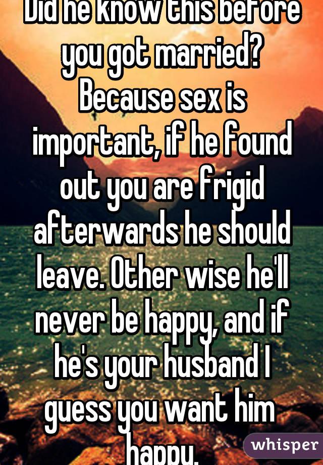 Fridgid wife wants sex