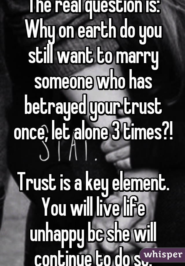 Why do you marry someone