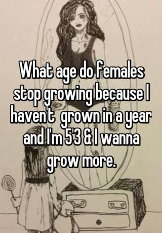 what age do females stop developing