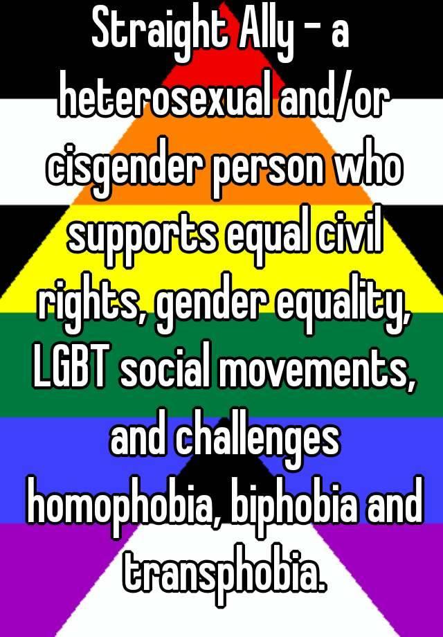 Difference between cisgender and heterosexual