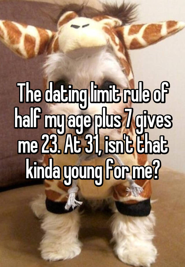 Dating age limit rule