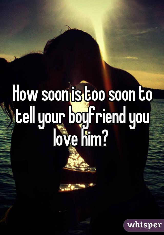 Tell a man you love him
