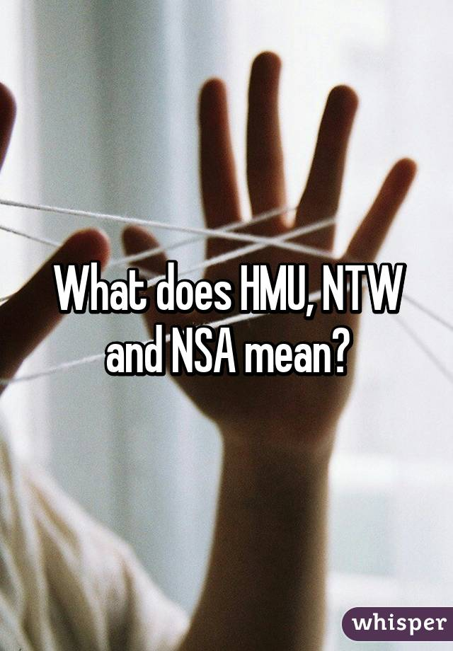 what is nsa mean