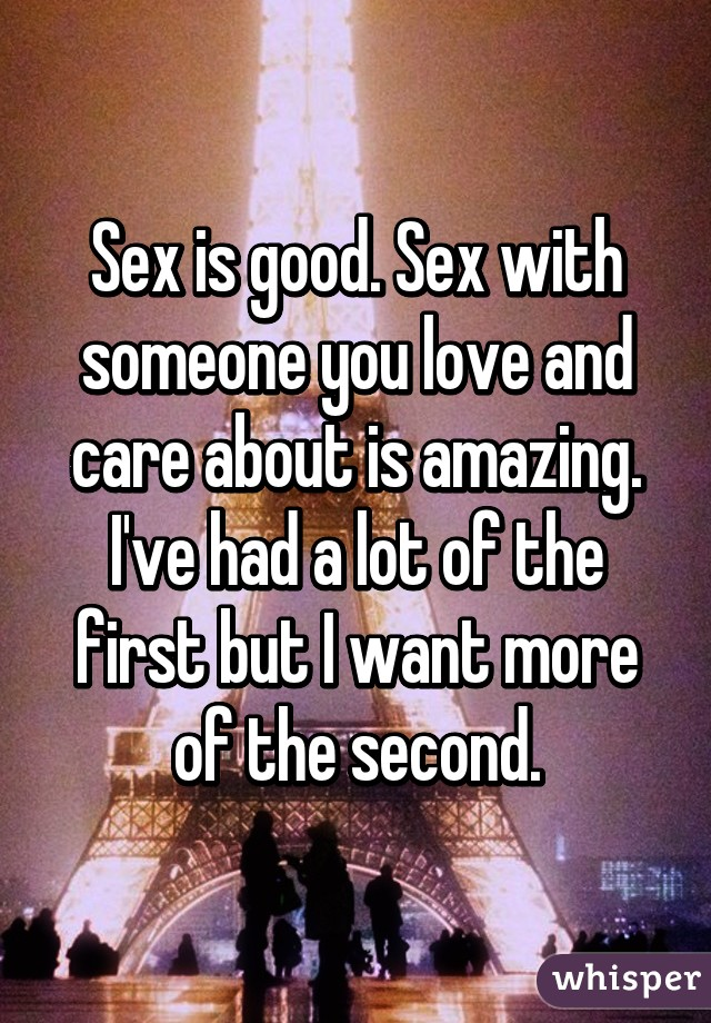 Is Sex Better With Someone You Love
