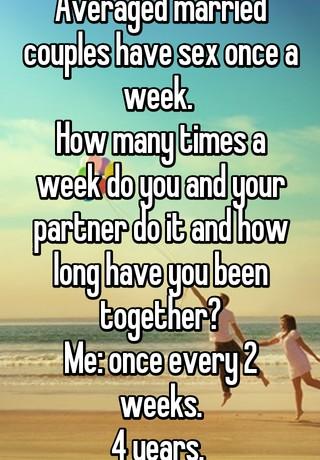 Married couples sex per week