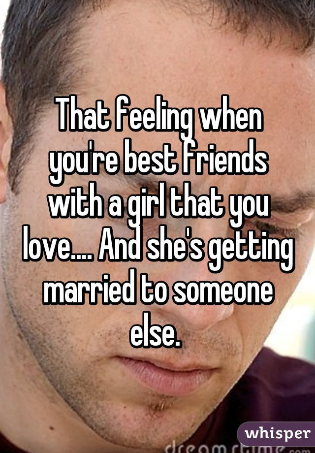 Getting married when you love someone else