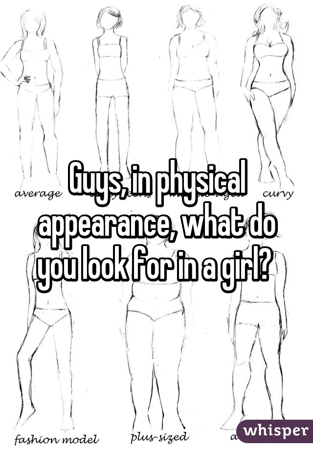 what do i look for in a girl