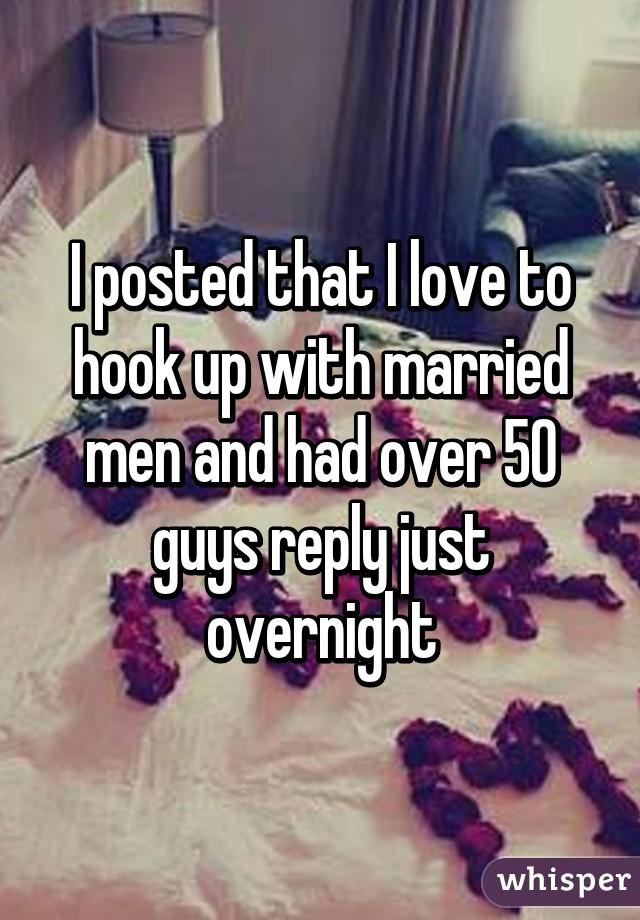 I like hookup a married man