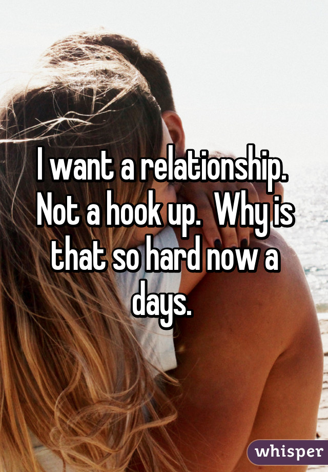 Why Hookup Is So Hard Now