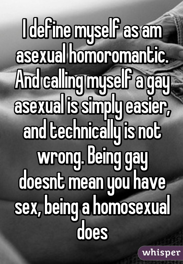 Homoromantic vs homosexual relationships