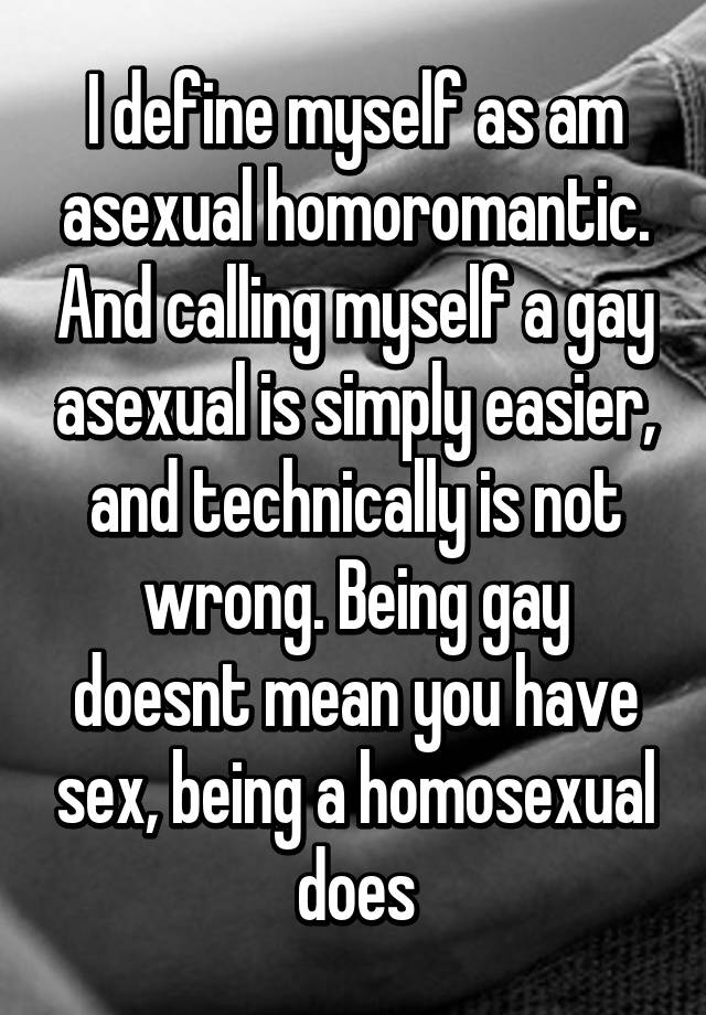 Homoromantic asexual definition human